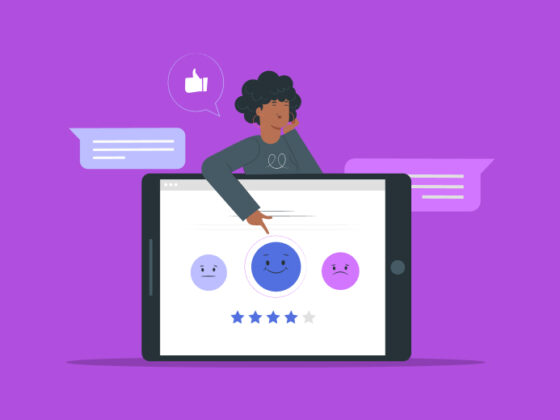 an animated person choosing an answer in a lead generation quiz